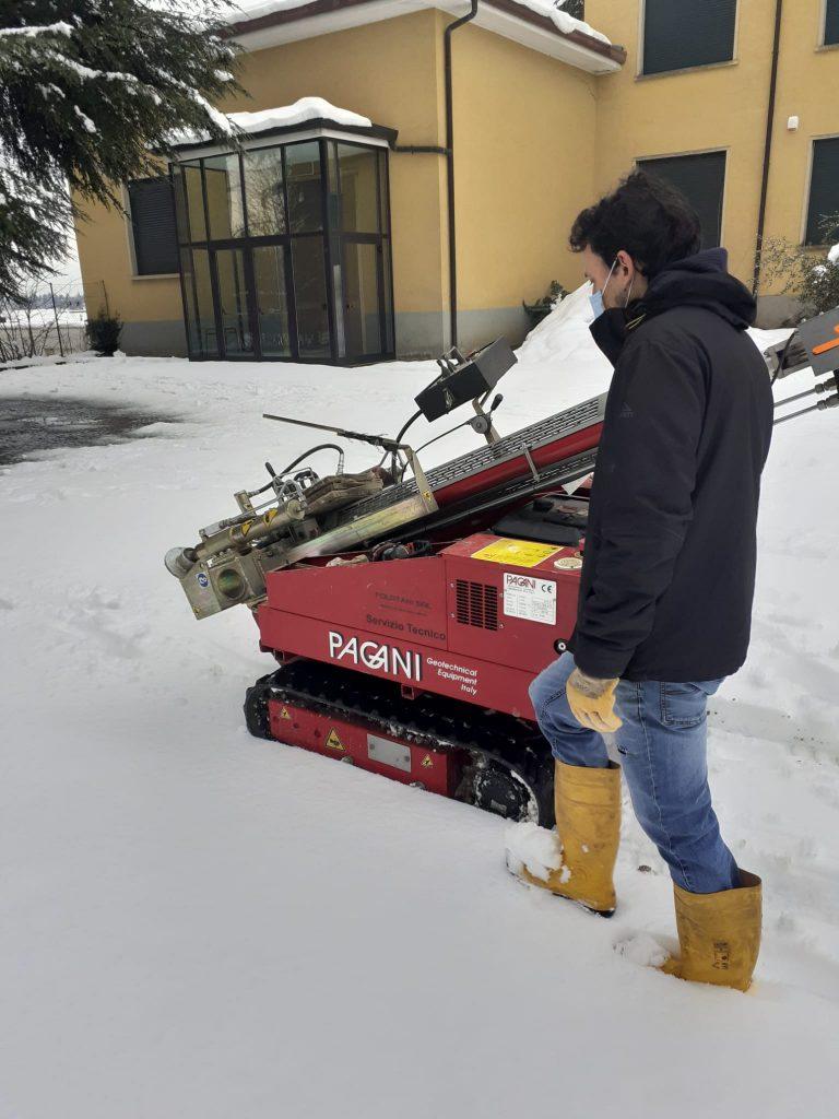 Indagine geotecnica nella neve